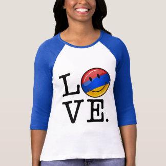 Liebe von lächelnder Flagge Armeniens T-Shirt