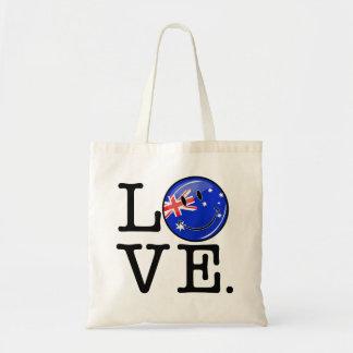 Liebe von lächelnder Flagge Australiens Tragetasche