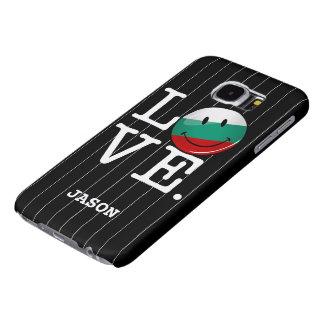 Liebe von lächelnder Flagge Bulgariens