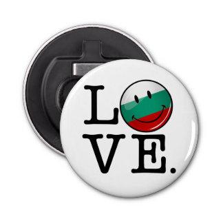 Liebe von lächelnder Flagge Bulgariens Flaschenöffner