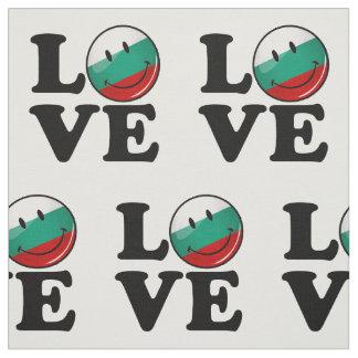 Liebe von lächelnder Flagge Bulgariens Stoff