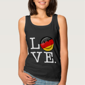 Liebe von lächelnder Flagge Deutschlands Tank Top