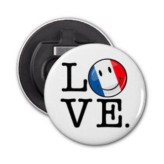 Liebe von lächelnder Flagge Frankreichs Flaschenöffner