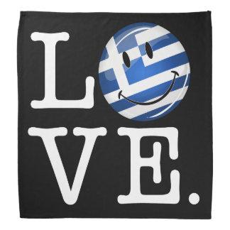Liebe von lächelnder Flagge Griechenlands Halstuch