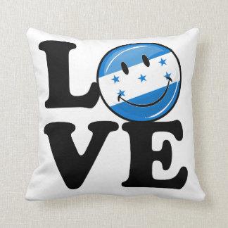 Liebe von lächelnder Flagge Hondurass Kissen