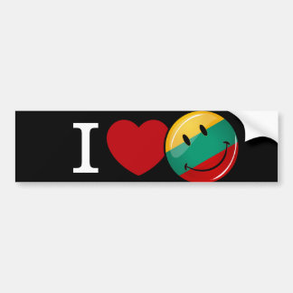 Liebe von lächelnder Flagge Litauens Autoaufkleber