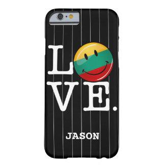 Liebe von lächelnder Flagge Litauens Barely There iPhone 6 Hülle