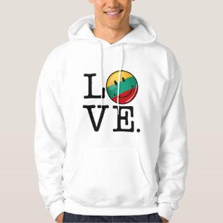 Liebe von lächelnder Flagge Litauens Hoodie
