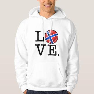 Liebe von lächelnder Flagge Norwegens Hoodie