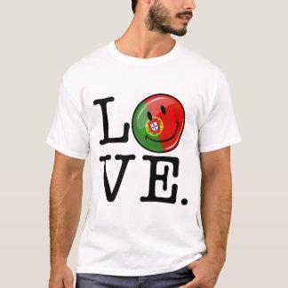 Liebe von lächelnder Flagge Portugals T-Shirt