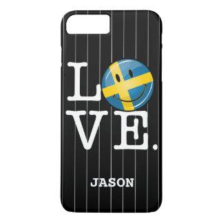 Liebe von lächelnder Flagge Schwedens iPhone 8 Plus/7 Plus Hülle