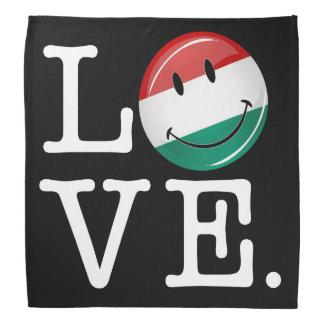 Liebe von lächelnder Flagge Ungarns Kopftuch