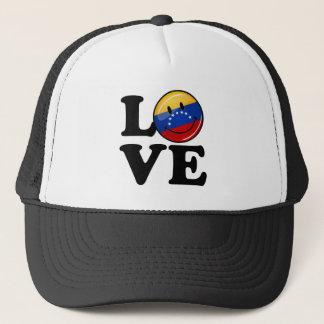 Liebe von lächelnder Flagge Venezuelas Truckerkappe