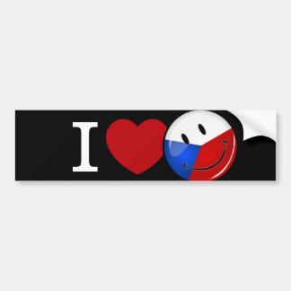 Liebe von Tschechische Republik-lächelnder Flagge Autoaufkleber