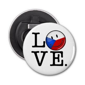 Liebe von Tschechische Republik-lächelnder Flagge Flaschenöffner