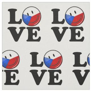 Liebe von Tschechische Republik-lächelnder Flagge Stoff