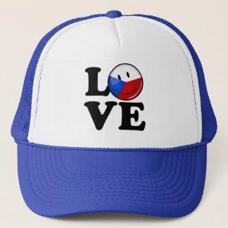 Liebe von Tschechische Republik-lächelnder Flagge Truckerkappe