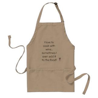 Liebe, w/Wine Schürze zu kochen