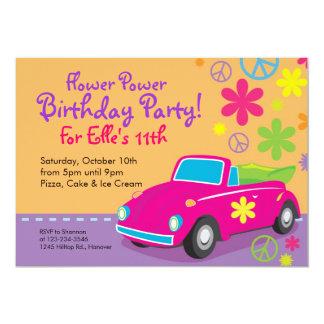 Liebe-Wanzehippie-Geburtstags-Party Einladungen