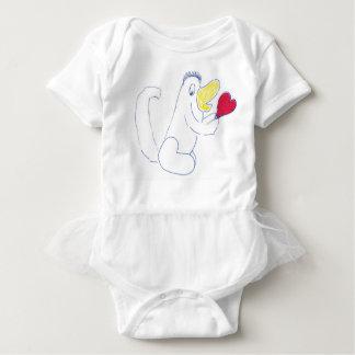 Liebe-Wanzetutu-Baby-Bodysuit Baby Strampler