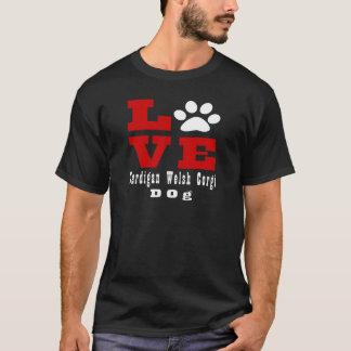 Liebe-Wolljacken-Walisercorgi-Hund Designes T-Shirt