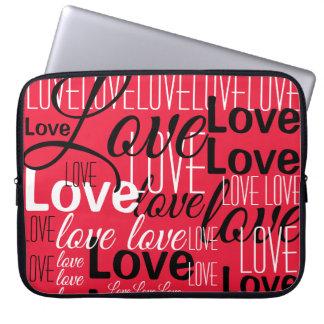 Liebe-Wort-Kunst-Muster Laptop Sleeve