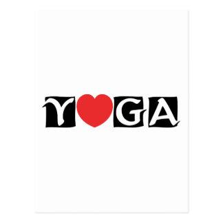 Liebe-Yoga Postkarte