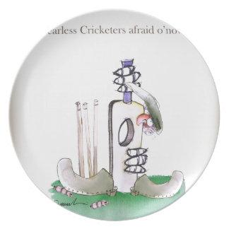 Liebe-Yorkshire 'furchtloser Cricketers Melaminteller