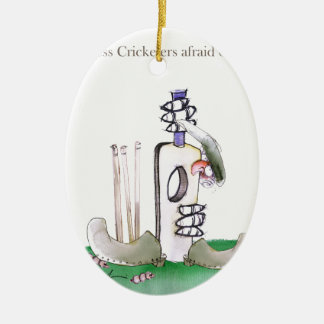 Liebe-Yorkshire 'furchtloser Cricketers Ovales Keramik Ornament