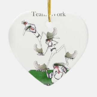 Liebe-Yorkshire-Kricket'Team work Keramik Ornament