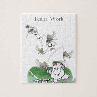 Liebe-Yorkshire-Kricket'Team work Puzzle