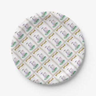 Liebe-Yorkshire-Kricket'Zuhause zu den Weltbesten Pappteller