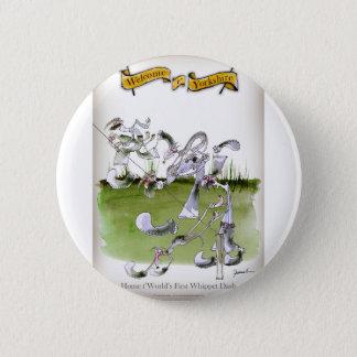 Liebe-Yorkshire whippet Schlag Runder Button 5,7 Cm