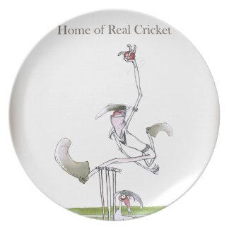 Liebe-Yorkshire 'wirkliches cricket Teller