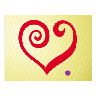 Liebe. Zeitraum! Rotes Herz der Liebe-Aussage Postkarte