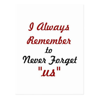 Liebe-Zitat - ich erinnere immer, mich uns nie zu Postkarten