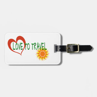 Liebe zu reisen kofferanhänger