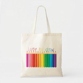 Liebe zu zeichnen tasche
