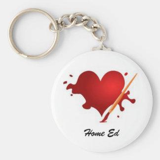 Liebe-Zuhause Ed-Schlüsselring Standard Runder Schlüsselanhänger