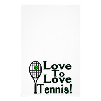 Liebe zum Liebe-Tennis Briefpapier