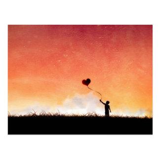 Liebeballonpostkarte Postkarte