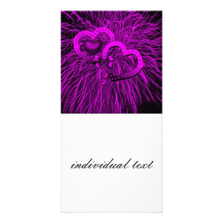 Liebefeuerwerke lila photokartenvorlage