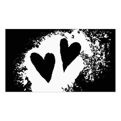 Liebefleck-Geschäftskarten der modernen Herzen Visitenkarten