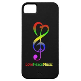 Liebefriedensmusik Hippie dreifacher Clef iPhone 5 Case