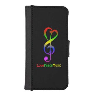 Liebefriedensmusik Hippie dreifacher Clef iPhone SE/5/5s Geldbeutel