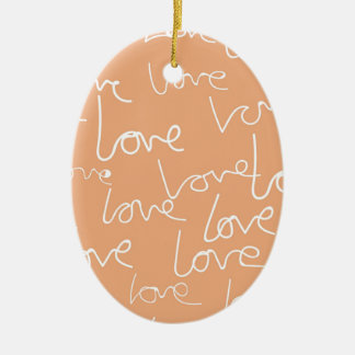 Liebegekritzel Keramik Ornament