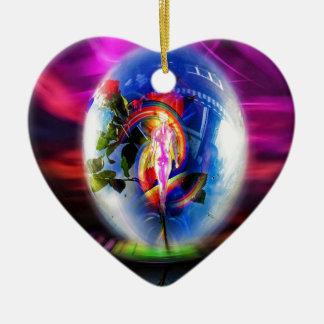 Liebegrüße durch Luftpost Keramik Ornament