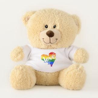 Liebeherz des Gay Pride-Regenbogen-LGBT Teddybär