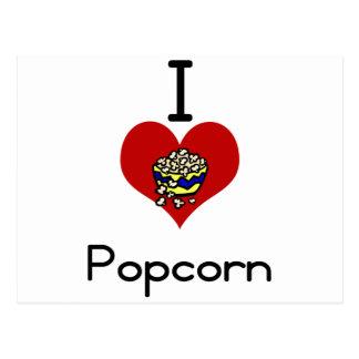 Liebeherz I Popcorn Postkarte