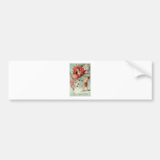 Liebeherzengels-Engel Vintager Valentine Autoaufkleber